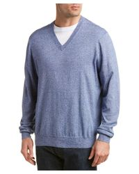 Brooks Brothers - Blue Marled Silk & Cashmere-blend Sweater for Men - Lyst