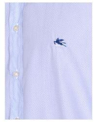 Etro - Men's 163653083250 Light Blue Cotton Shirt for Men - Lyst