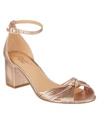 Badgley Mischka - Multicolor Lacey Leather Sandal - Lyst