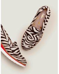 Boden Black Elizabeth Platform Loafers Zebra