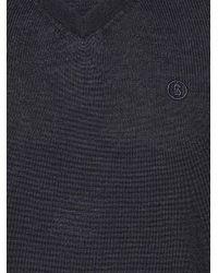 Bogner Blue New Wool Sweater Bene for men