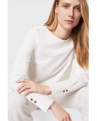 Bogner White Sweatshirt Judy
