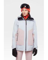 Bogner Multicolor Agnes Ski Jacket In Ice Gray/pink