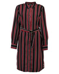 Boohoo | Black Tilly Stripe Buckle Shirt Dress | Lyst
