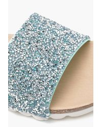 Boohoo Multicolor Diamante Cleated Sliders