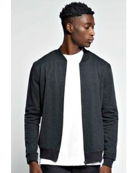 Boohoo Black Slim Fit Bomber for men