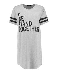 Boohoo - Gray Mcr Charity We Stand Together Nightie - Lyst