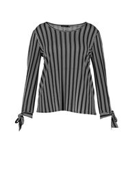 Boohoo | Black Plus Marie Tie Sleeve Open Shoulder Top | Lyst
