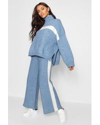 Boohoo - Blue Premium Heavy Knitted Sports Athleisure Set - Lyst