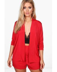Boohoo - Red Plus Bethany Short And Blazer Co-ord Set - Lyst