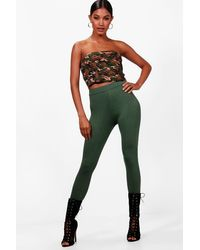 Boohoo Green High Waist Leggings
