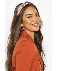 Boohoo Womens Paisley Print Twist Knot Structured Headband - One Size