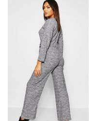 Boohoo Black Knitted Tie Waist Co-ord