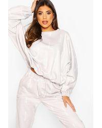 Boohoo Gray Woman Oversized Sweatshirt