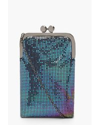 Boohoo Multicolor Womens Premium Chainmail Clutch Bag