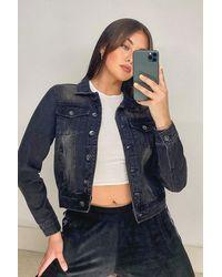 Boohoo Black Pocket Detail Jean Jacket