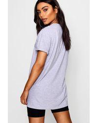 Boohoo Gray Xoxo Slogan T-shirt