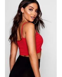 Boohoo Red Melody Strappy Front Bralet