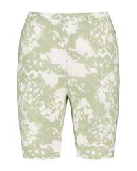 Boohoo Multicolor Tie Dye Ribbed High Waist Biker Shorts