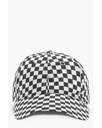 Boohoo Multicolor Imogen Checkerboard Baseball Cap