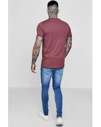 Boohoo Multicolor 3 Pack Crew Neck T Shirts In Slim Fit for men