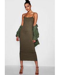 Boohoo - Green Tall Jersey Square Neck Maxi Dress - Lyst