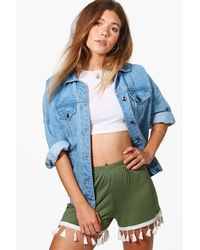 Boohoo - Multicolor Alex Tassel Trim Flippy Shorts - Lyst