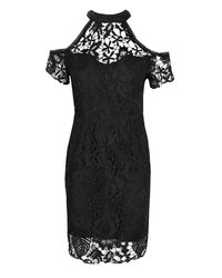 Boohoo - Black Boutique Corded Lace Midi Dress - Lyst