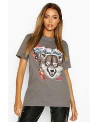 T-Shirt Motard - anthracite - S, Anthracite Boohoo en coloris Gray
