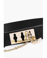 Boohoo Black Darcy Chain Lock Waist Belt