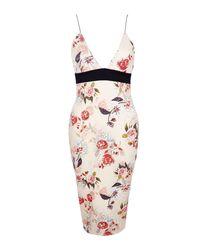 Boohoo - Multicolor Dahlia Floral Print Strappy Midi Dress - Lyst