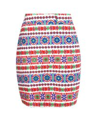 Boohoo - Multicolor Tall Boutique Embroidered Skirt - Lyst