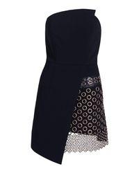 dac0eeee8c7c Lyst - Boohoo Premium Felicity Wrap Bardot Mini Dress in Black