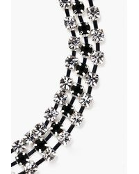 Boohoo - Black Megan Diamante Twist Anklet - Lyst