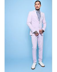 Boohoo Pink Single Breasted Skinny Fit Blazer for men