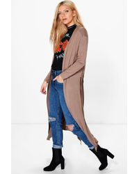 Boohoo Multicolor Jessica Belted Jersey Duster