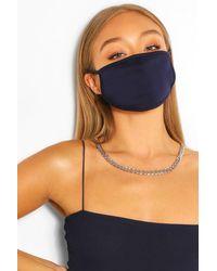 Mascherina alla moda per il viso tonalità oltremare di Boohoo in Blue