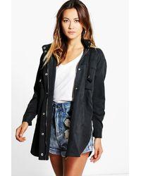 Boohoo Black Lois Utility Festival Jacket