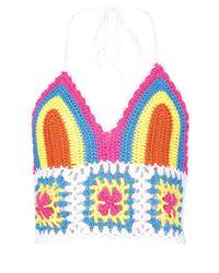 Boohoo Pink Colourful Crochet Bralet