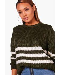 Boohoo Pink Soft Knit Stripe Jumper