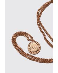 Collier porte-monnaie MAN Boohoo pour homme en coloris Metallic
