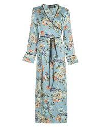 Boohoo - Green Josephine Wrap Front Dress - Lyst