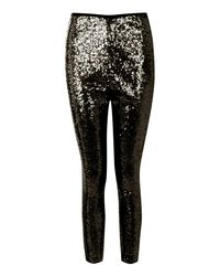 Boohoo - Black Premium Ryha All Over Sequin Leggings - Lyst