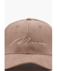 BoohooMAN Multicolor 6 Panel Cap With Man Embroidery for men