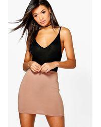 Boohoo Blue Basic Jersey Mini Skirt