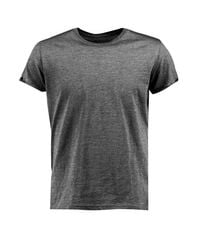 Boohoo - Gray Crew Neck T-shirt With Rolled Sleeves - Lyst