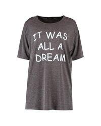 Boohoo - Gray Ella 'it Was All A Dream' Slogan Nightdress - Lyst
