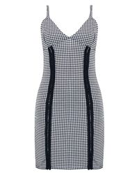 Boohoo Black Sophie Gingham Eyelet Detail Bodycon Dress