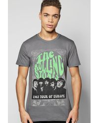 Boohoo | Gray The Rolling Stones License T-shirt for Men | Lyst