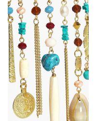 Boohoo - Metallic Lydia Boutique Embellished Upper Arm Cuff - Lyst